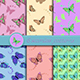 Set of Seamless Patterns with Butterflies - GraphicRiver Item for Sale