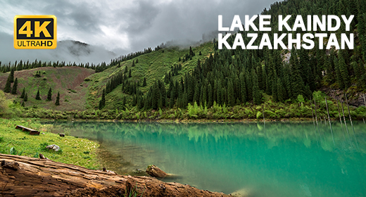 Mysterious Lake Kaindy in Kazakhstan - Timelapse