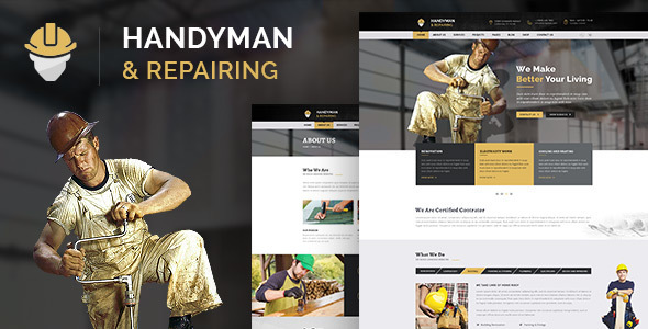 Handyman & Repairing - Construction and Craftsman HTML Template - Business Corporate