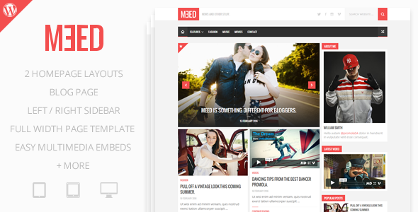 Meed - A Simple Media Blog - Blog / Magazine WordPress