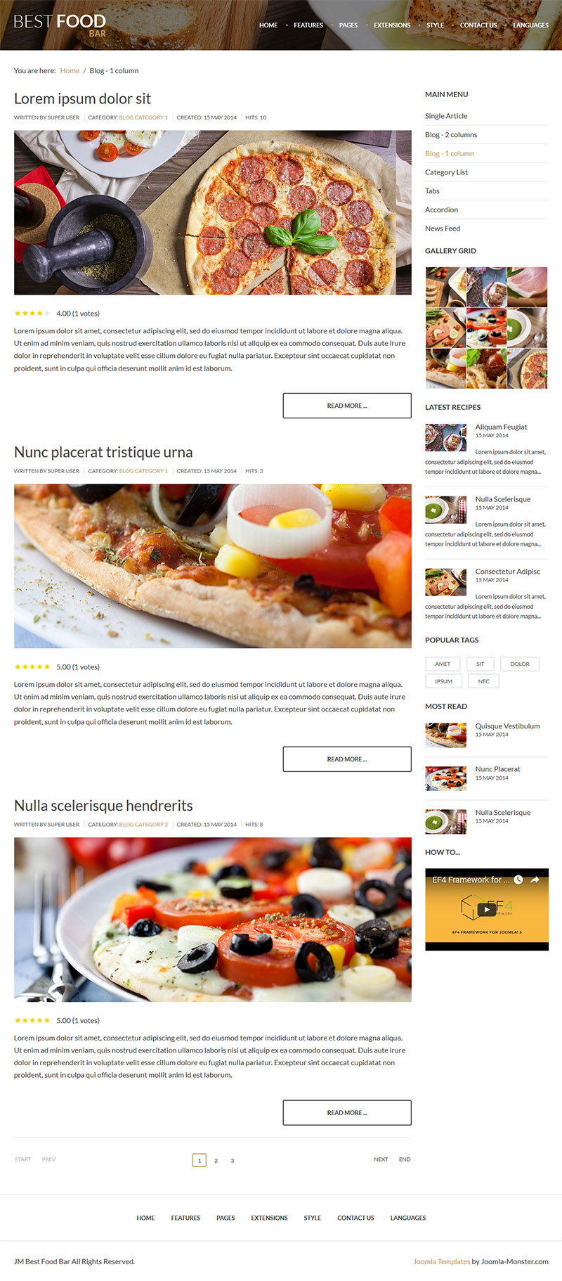 Jm Best Food Bar Restaurant And Food Joomla Template By Joomla Monster