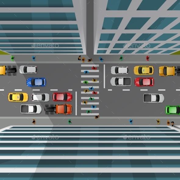 City Traffic Top View - Decorative Symbols Decorative