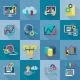 Big Data Analytics Flat Icons - GraphicRiver Item for Sale