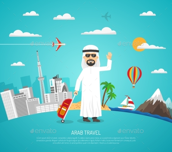 Poster Of Arab Travel - Seasons/Holidays Conceptual