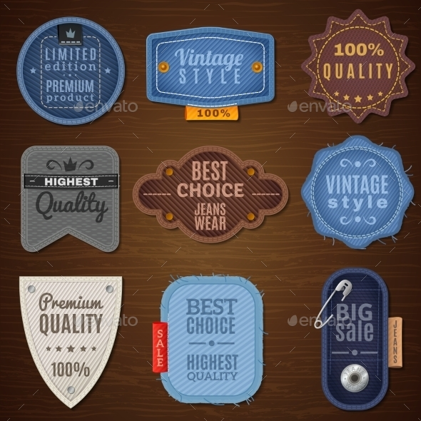 Jeans Label Icons - Commercial / Shopping Conceptual