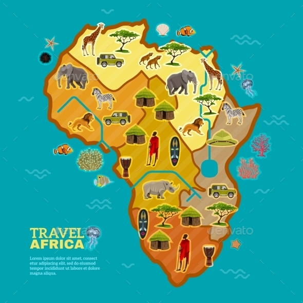 Travel Africa Poster - Travel Conceptual