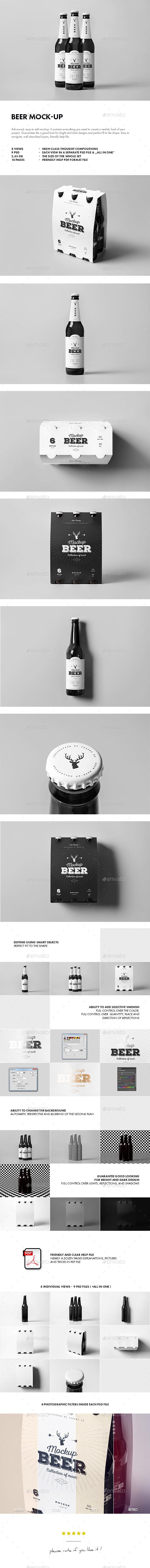 Beer Mock-up - Food and Drink Packaging