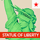 Low poly Statue of Liberty