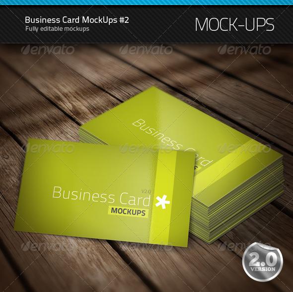 Business Card Mock-Ups #2 - Business Cards Print