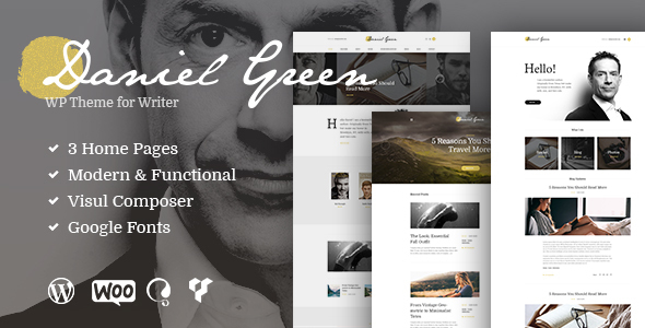 Writer – Blog and Shop WP Theme for Writers