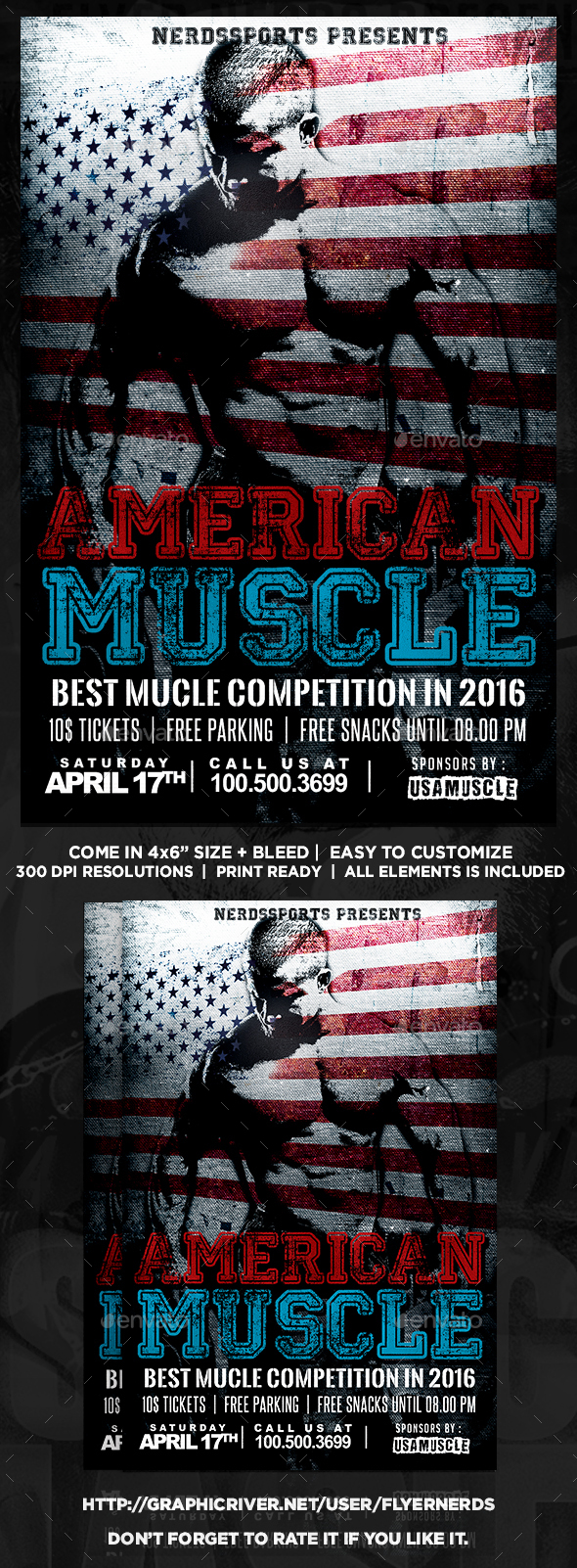 American Muscle 2016 Sports Flyer - Sports Events