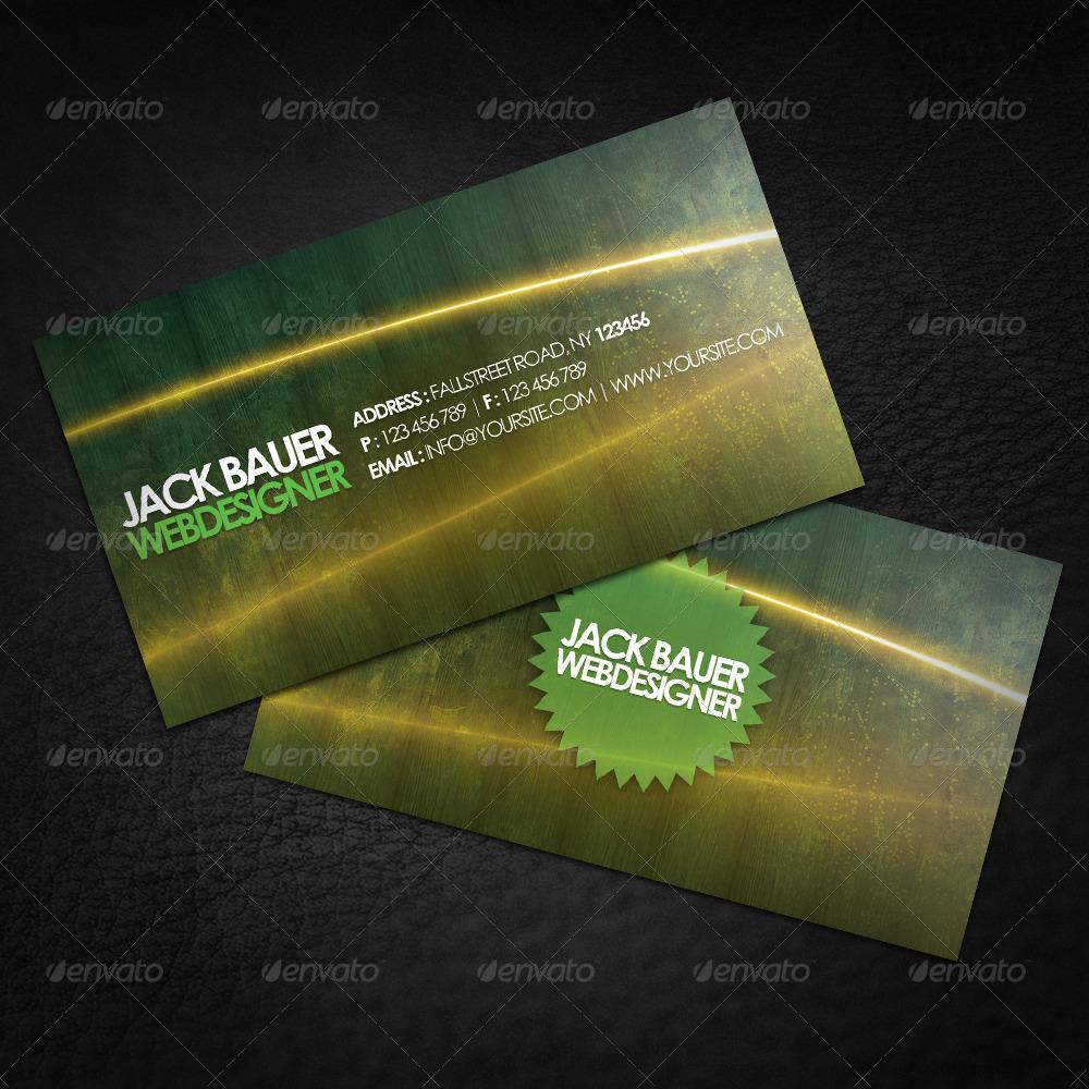 Lighting Grunge Business Card