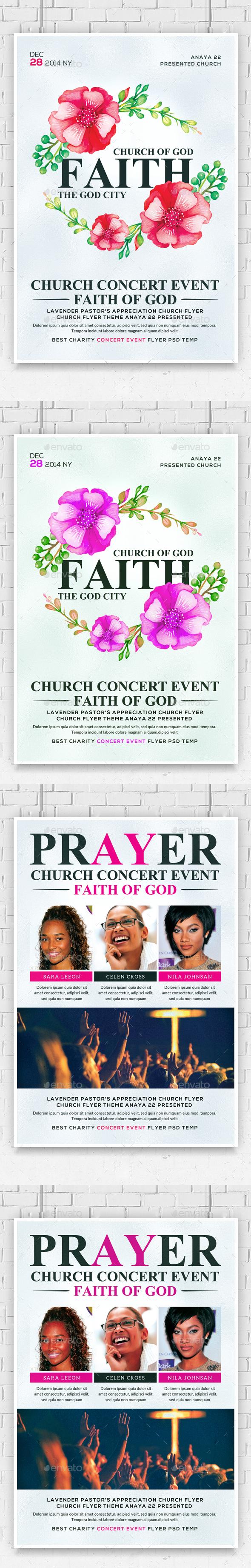 Faith and Prayers Church Flyers Bundle - Church Flyers
