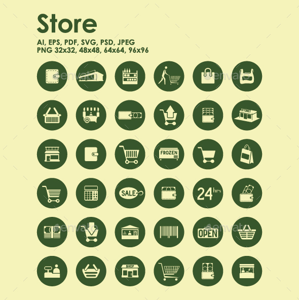 36 Store icons - Business Icons