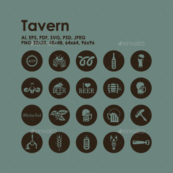 20 Tavern icons - Food Objects
