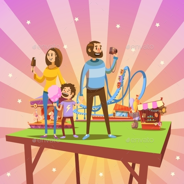 Amusement Park Cartoon - Miscellaneous Conceptual