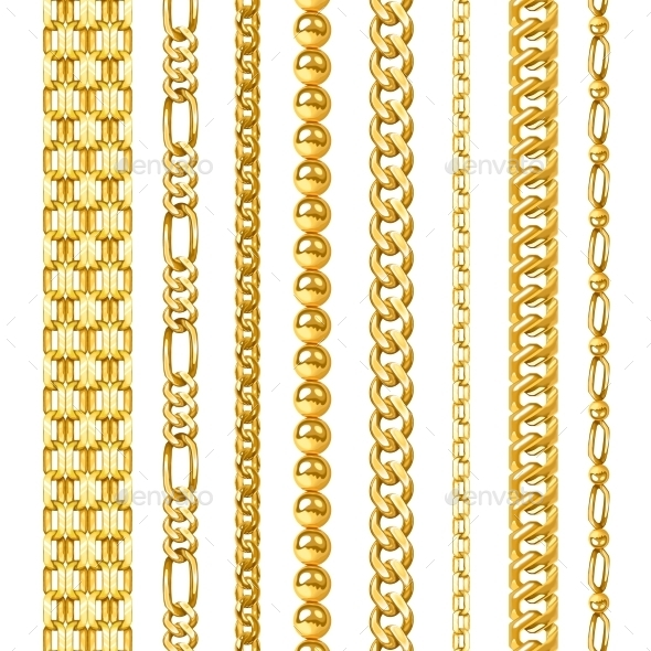 Golden Chains Set - Man-made Objects Objects