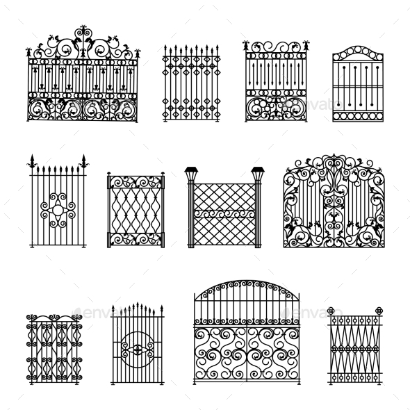 Decorative Fences Set - Man-made Objects Objects