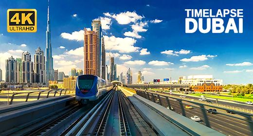 DUBAI, UAE - Timelapse