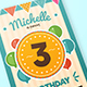 Colorful birthday invitation