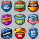 Vector set of retro badges - GraphicRiver Item for Sale