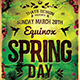 Spring Equinox Flyer Template V4 - GraphicRiver Item for Sale