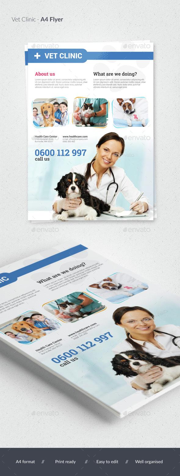 Vet Clinic / Pet Care Flyer - Commerce Flyers