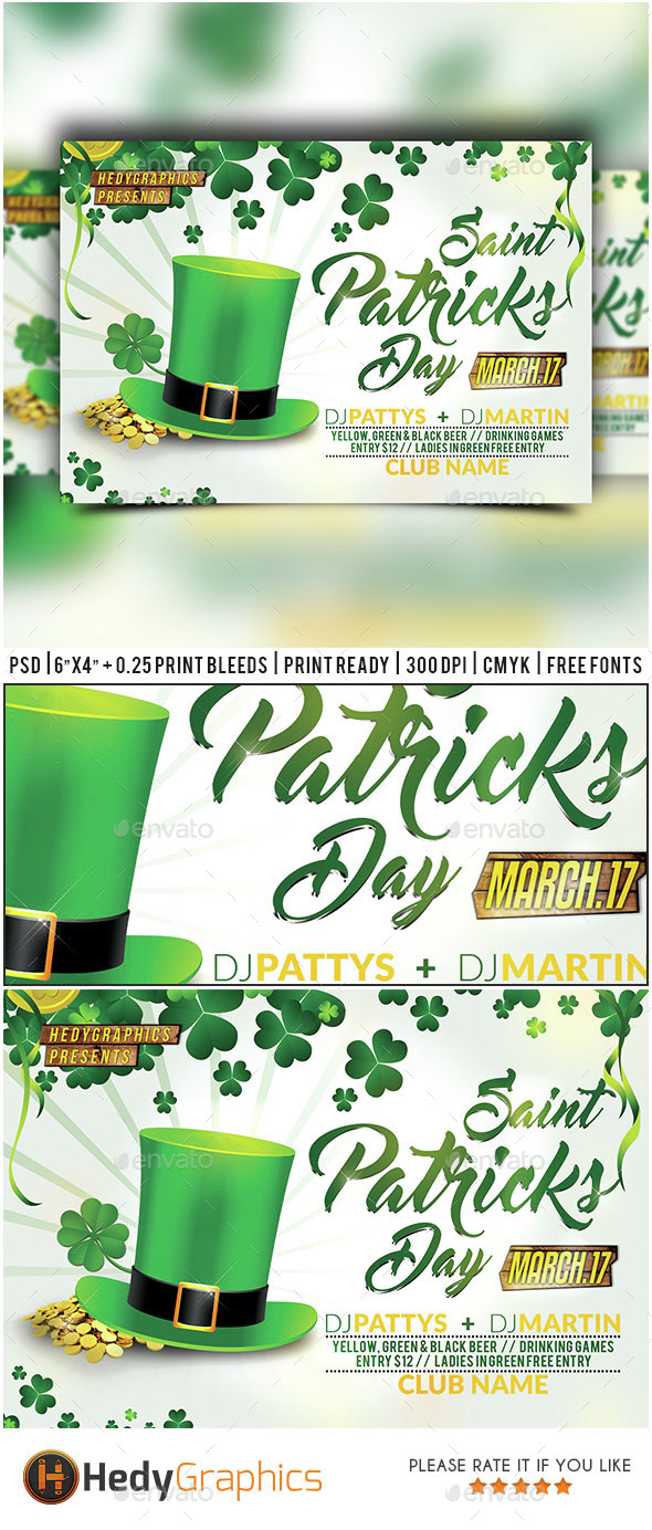 Saint Patricks Day - Flyer Template - Holidays Events