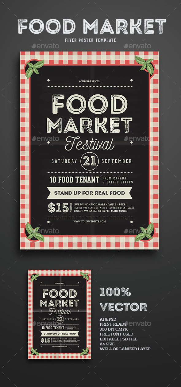 Food Market Flyer template - Events Flyers