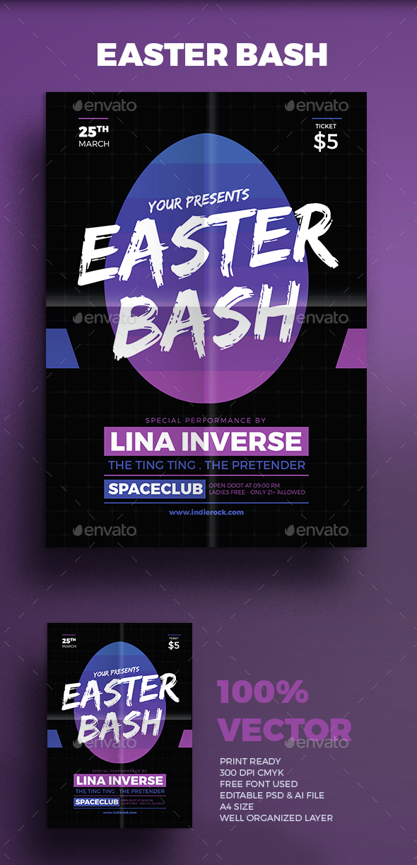 Easter Bash - Events Flyers