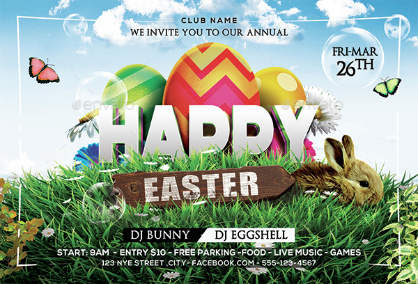 Easter/ Spring Party Flyer By Arrow3000 | Graphicriver