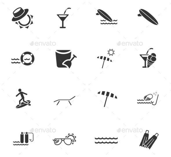 Beach Icon Set - Miscellaneous Icons