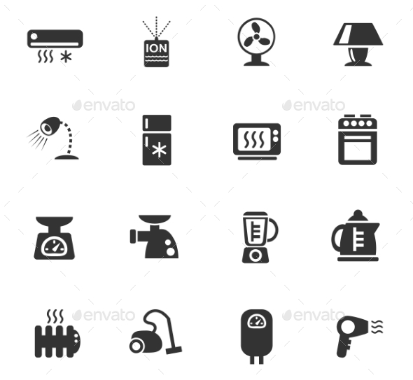 Home Appliances Icon Set - Miscellaneous Icons