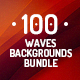 100 Abstract Waves Backgrounds Bundle - GraphicRiver Item for Sale