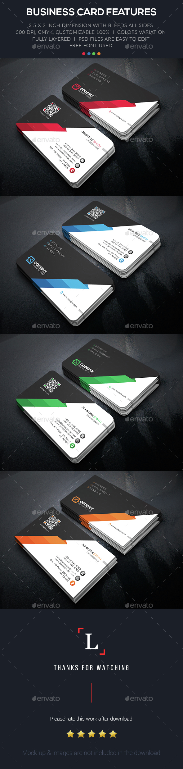 Shape Corporate Business Card - Business Cards Print Templates