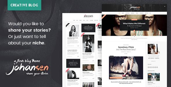 Johansen - Creative Niche Blog Theme - Blog / Magazine WordPress