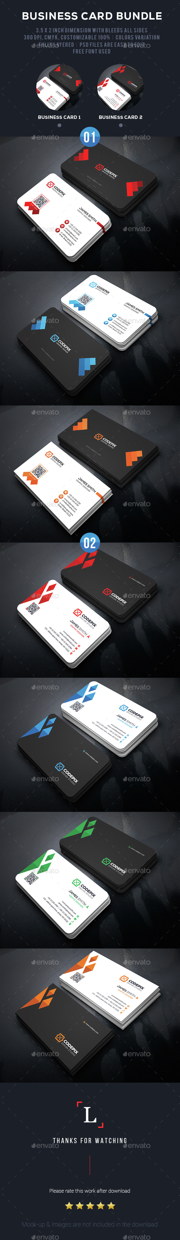 Graphic Business Card Bundle - Business Cards Print Templates