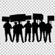 Protesters Crowd Silhouette - VideoHive Item for Sale