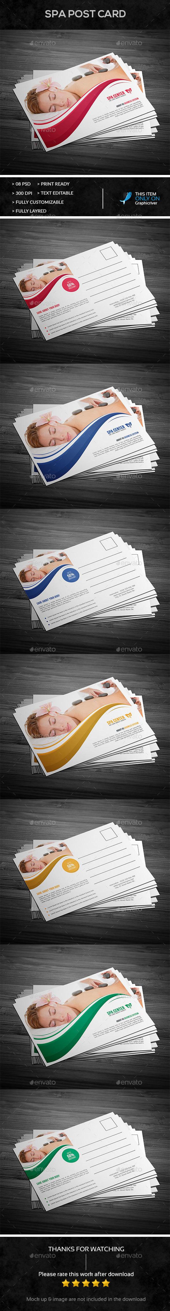 Spa Post Card Design  - Cards & Invites Print Templates