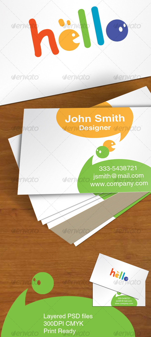 Comic Color Card - Creative Business Cards