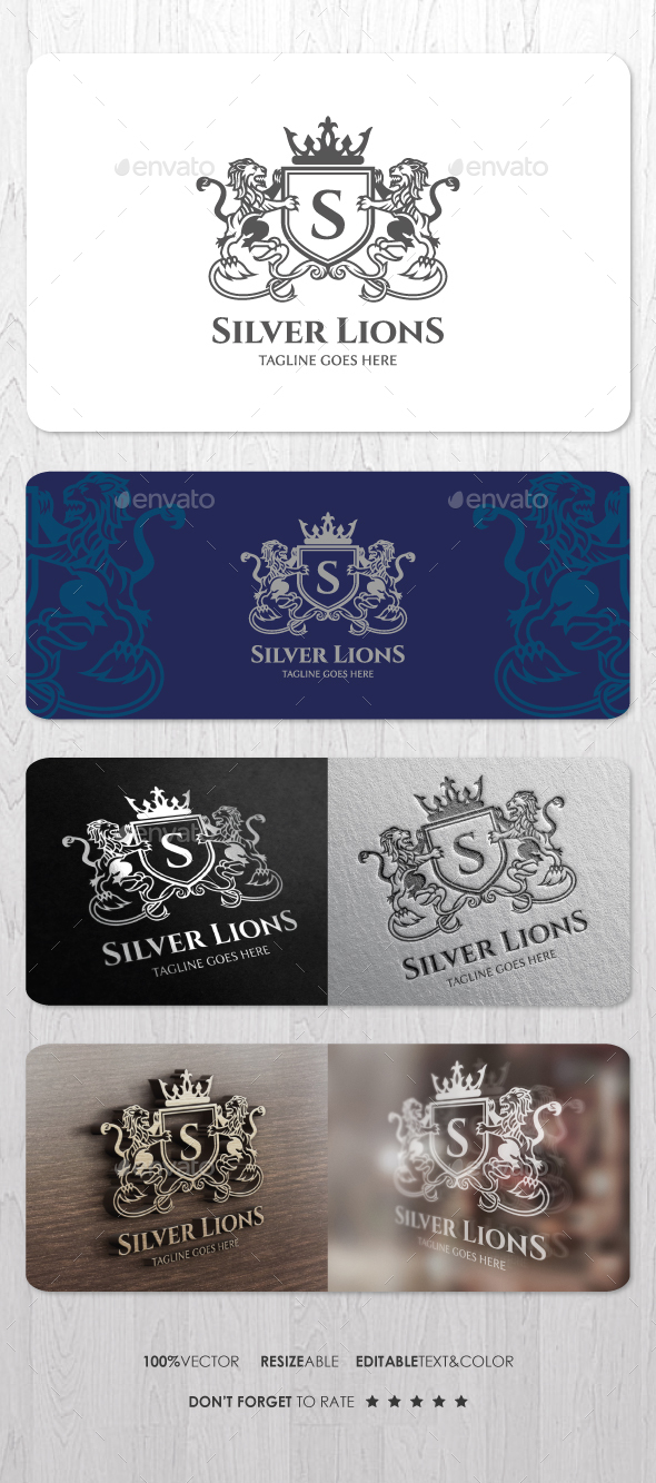 Silver Lions Logo - Crests Logo Templates