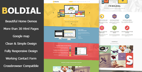 Boldial HTML – Flat Creative Theme