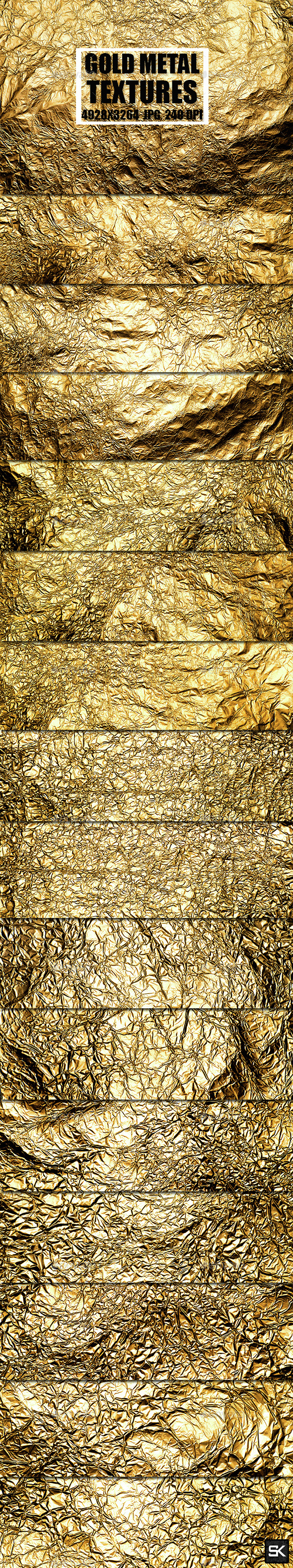 Gold Metal Textures 2 - Metal Textures