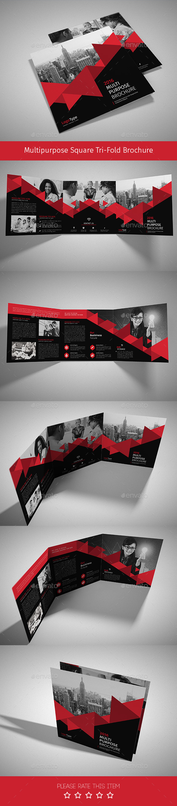 Corporate Tri-fold Square Brochure 01 - Corporate Brochures