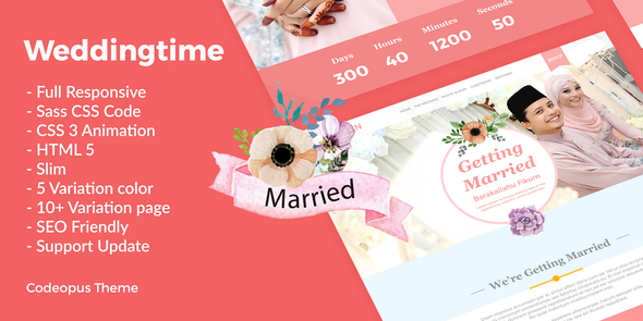 Wedding Time – Responsive Wedding Time Themes