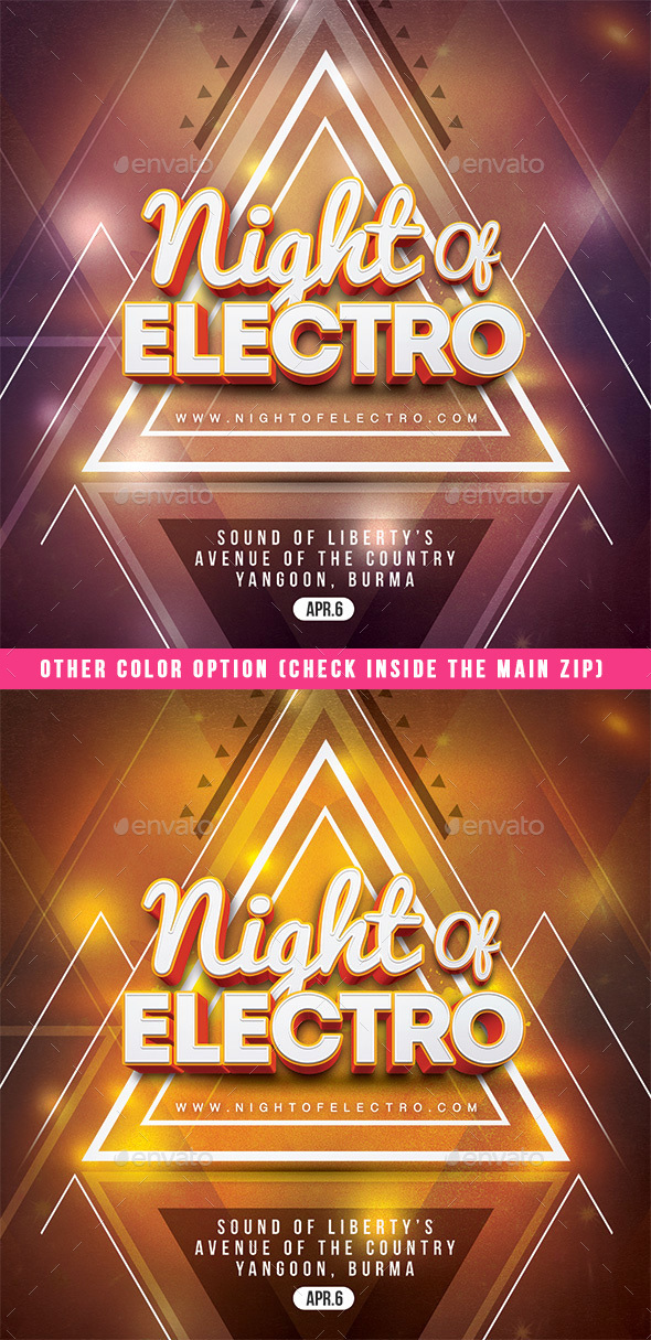 Night Of Electro - Clubs & Parties Events