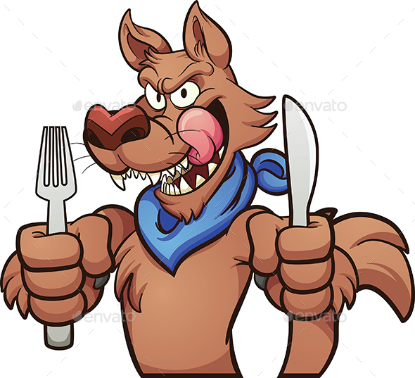 Hungry Wolf - Animals Characters