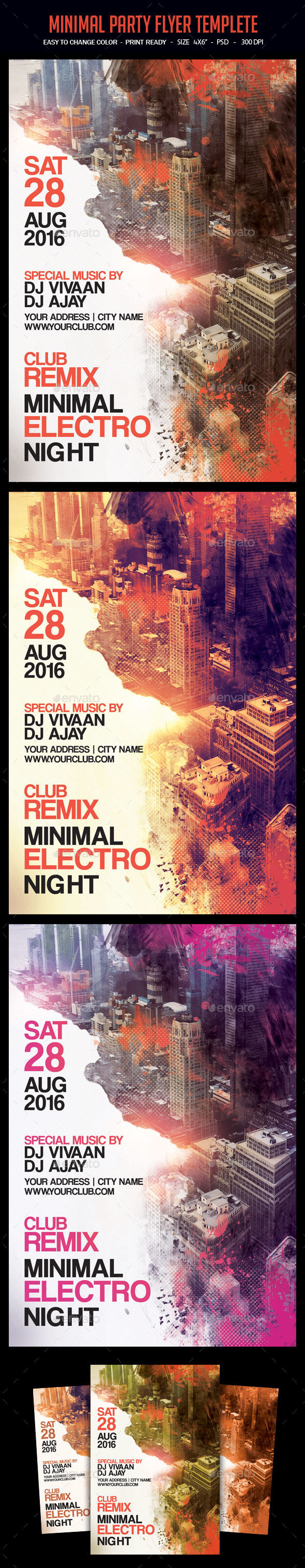 Minimal Party Flyer Templete - Clubs & Parties Events