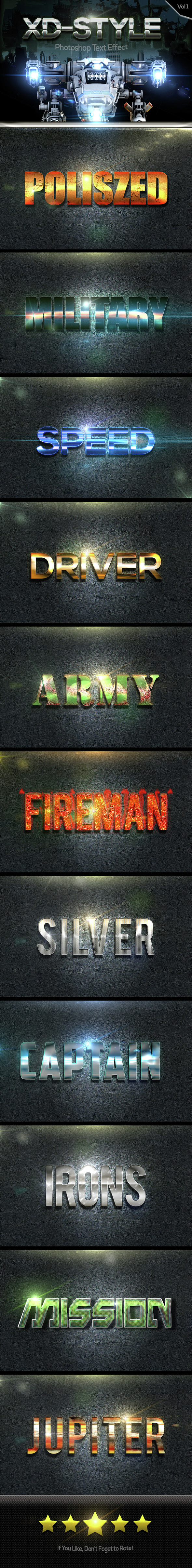 XD Text Effect Style Vol 1 - Text Effects Styles