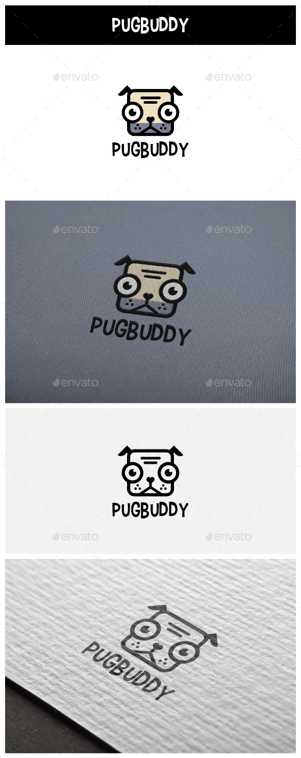 PugBuddy Logo - Animals Logo Templates